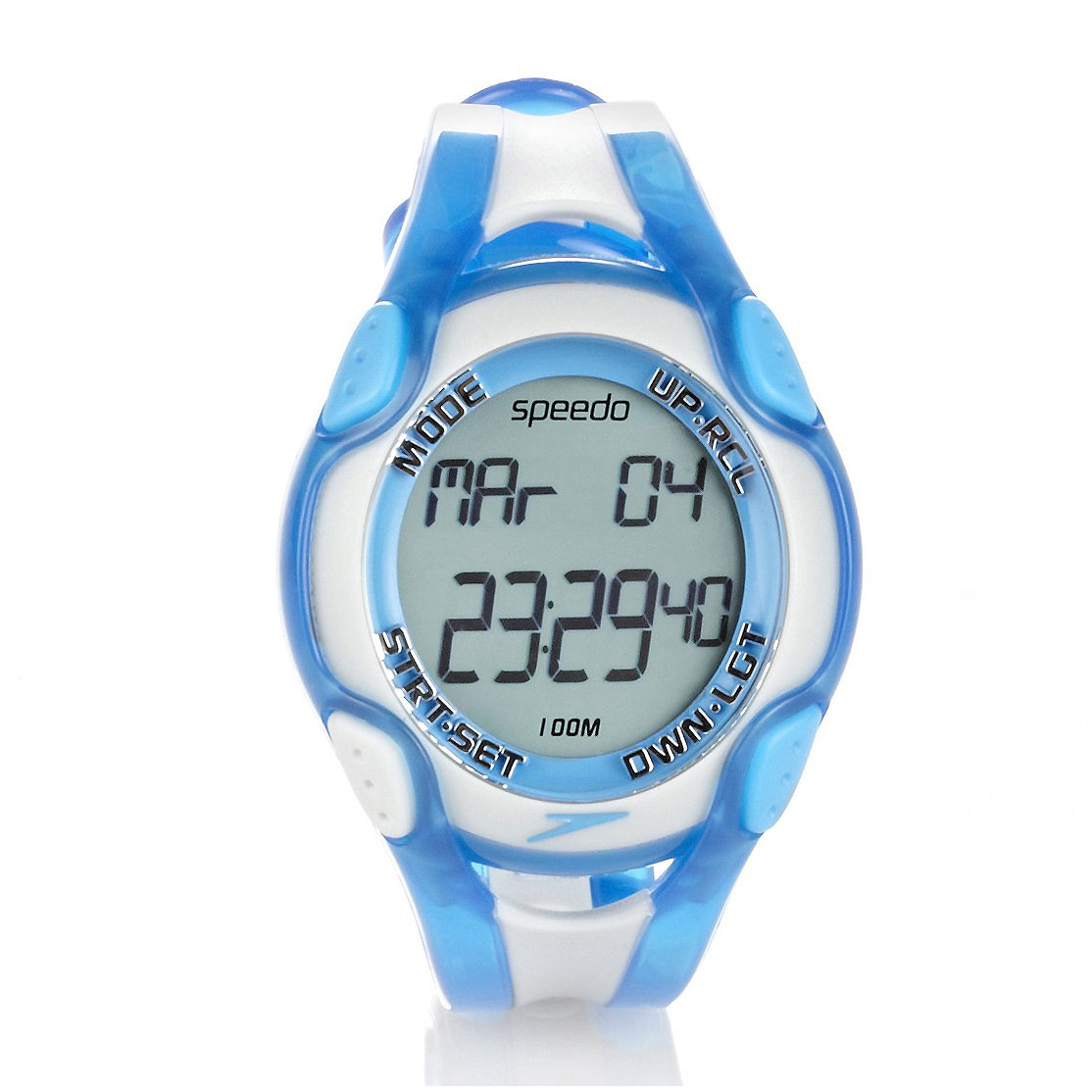 Orologio da nuoto speedo aquacoach watch blu bianco deporvillage - Orologio per piscina ...