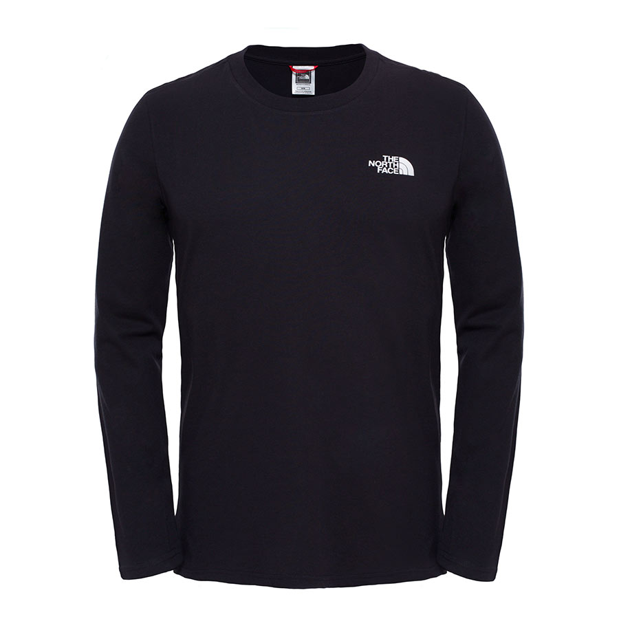 T-Shirt The North Face Easy manica lunga nero  16c0ac906b81